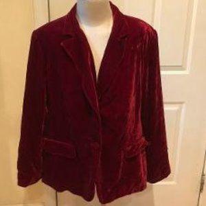 Style&Co Red Velvet Smoking Style Blazer Size 20W